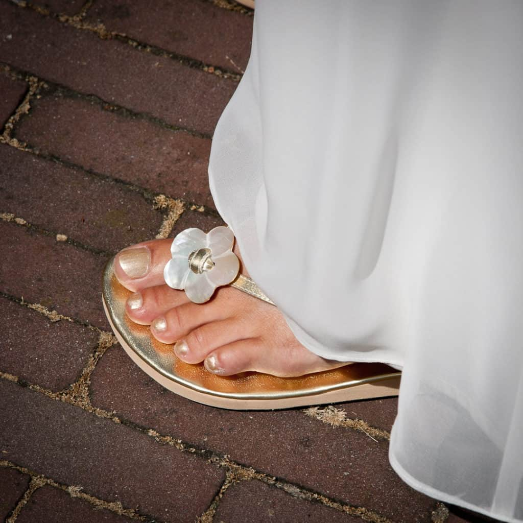 Diensten Mirage weddingplanner - voet in slipper